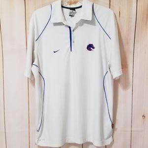 Nike White Dri-Fit BSU Broncos Boise State Polo